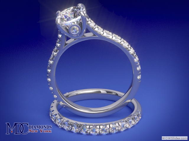ES655BR Cathedral Surprise Diamond Bridal set