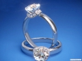 ES802 Round Diamond Chocker Engagement ring White Gold