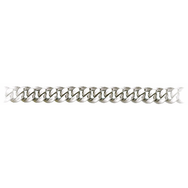 9 Inch 950 Platinum Cuban Curb Chain Bracelet, 10 mm wide