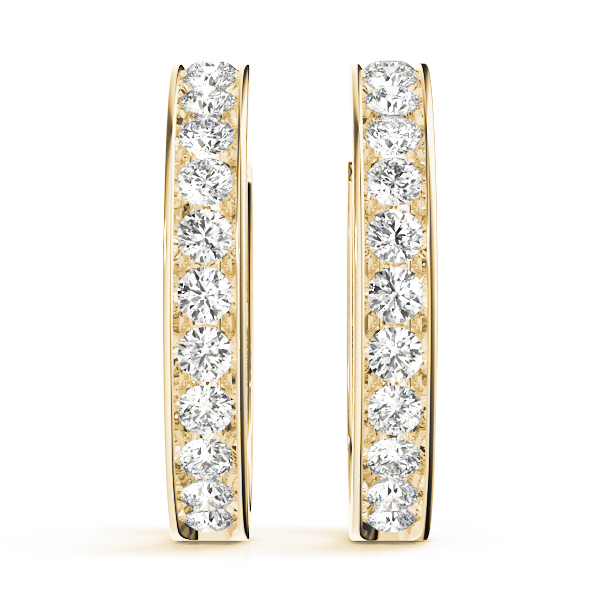 Open Hoop Earrings Yellow Gold 0.48 Ct.