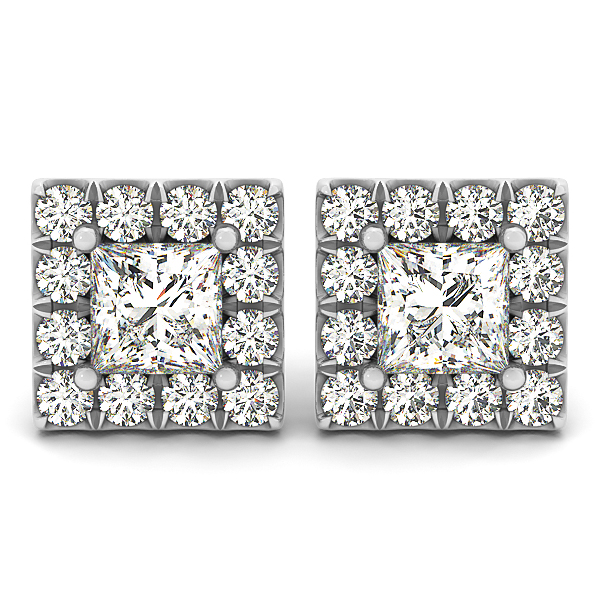 Princess Halo Earring 0.46 ct.