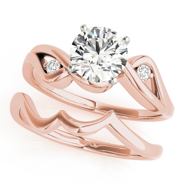 Love Bird Diamond Bridal Set Rose Gold