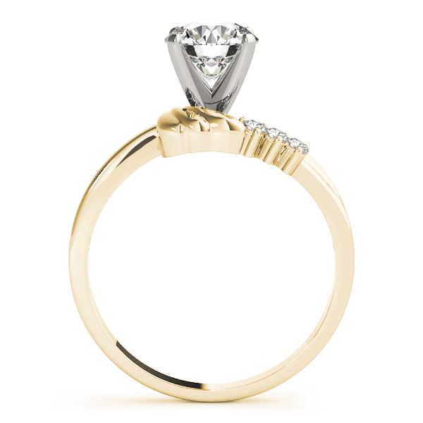 Wing Diamond Engagement Ring Yellow Gold