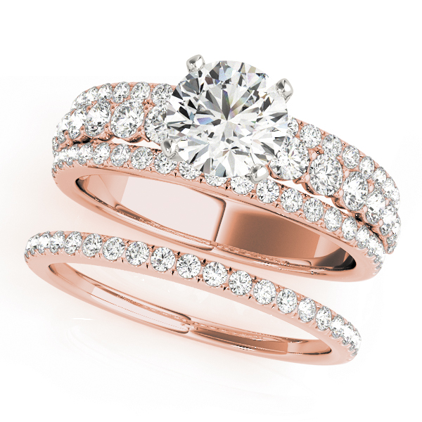 Triple Row Diamond Bridal Set