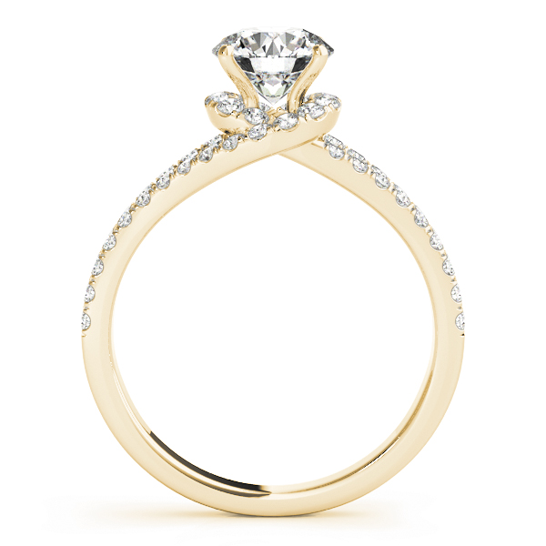 Swirl Petite Split to Double Band Engagement Ring Yellow Gold