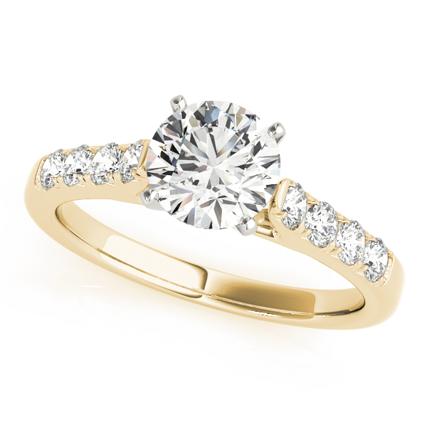 Classic Cathedral Diamond Engagement Ring in Yellow Gold