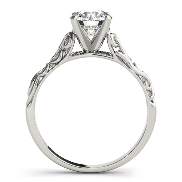 Cathedral Filigree Solitaire Engagement Ring