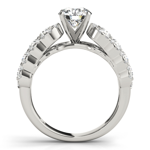Wave Halo Diamond Engagement Ring
