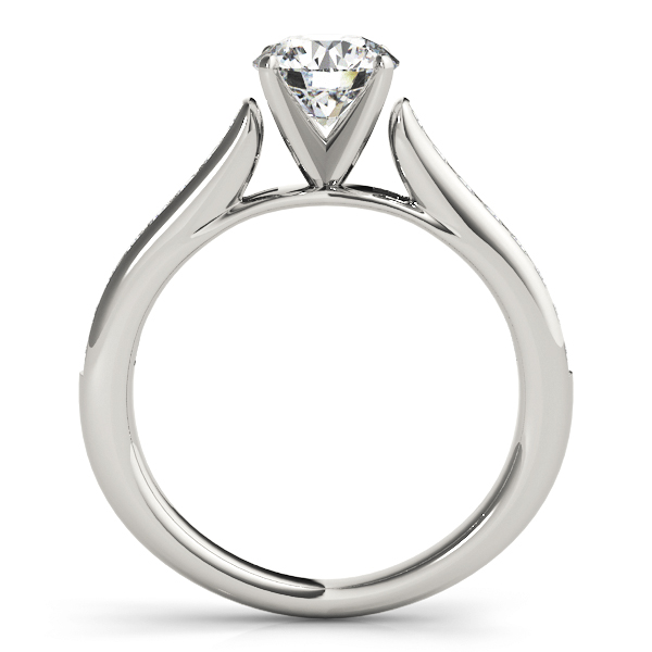 Classic Channel Set Cathedral Diamond Engagement Ring