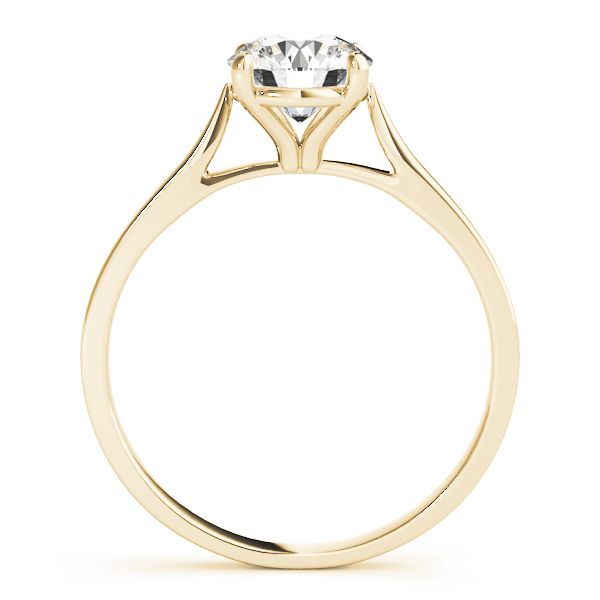 Cathedral Solitaire Yellow Gold Engagement Ring