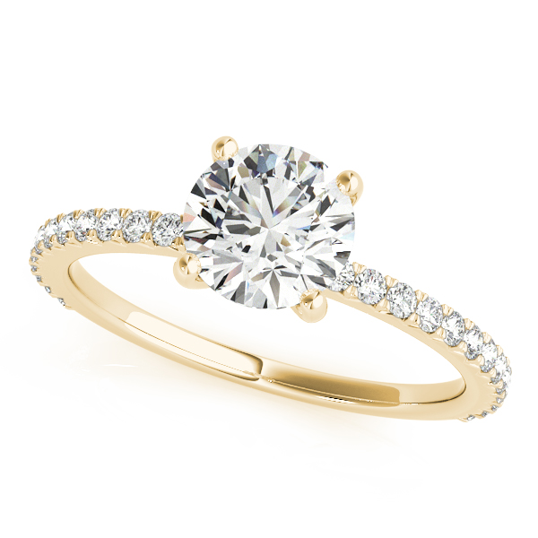 Classic Diamond Engagement Ring Yellow Gold