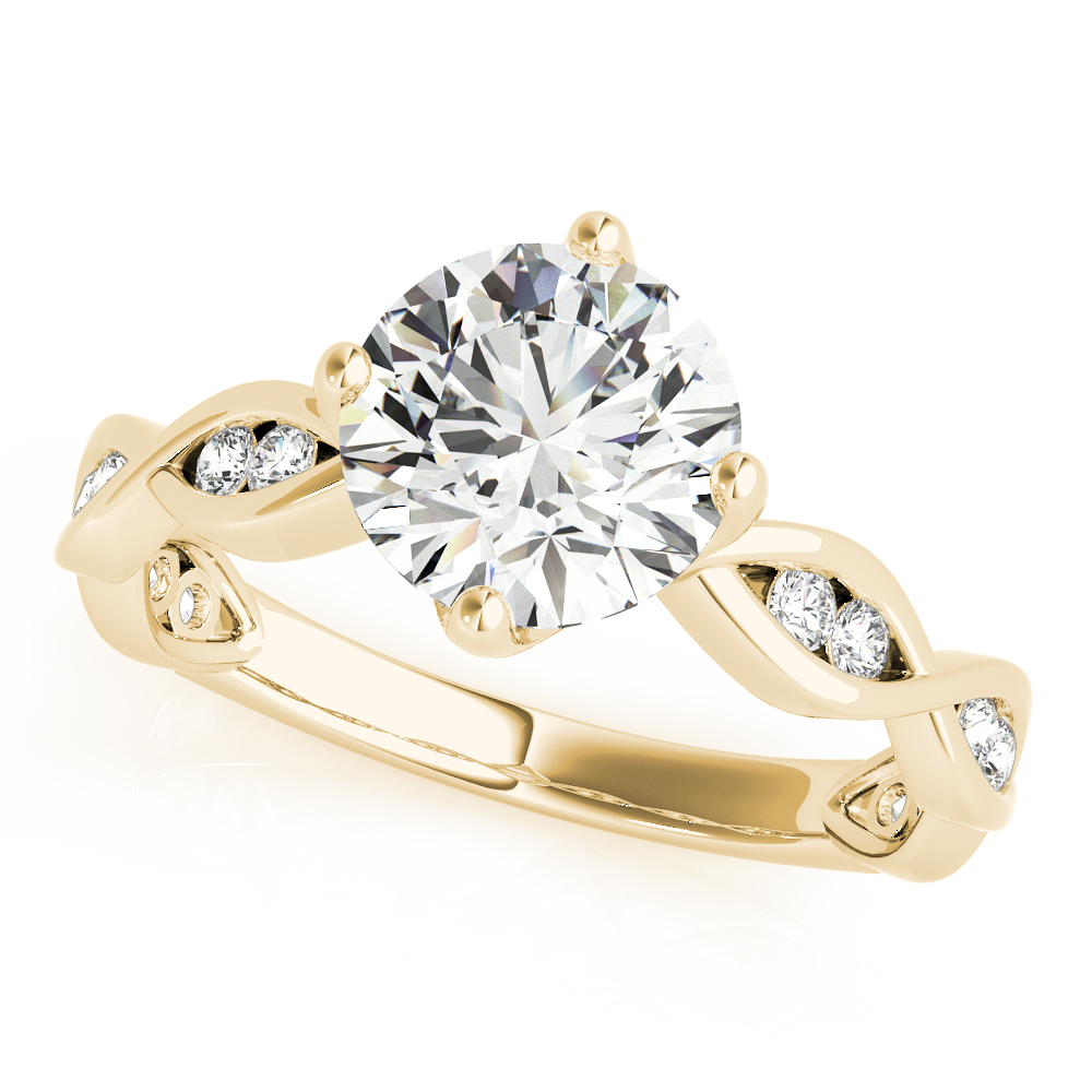 Channel Infinity Diamond Engagement Ring Yellow Gold
