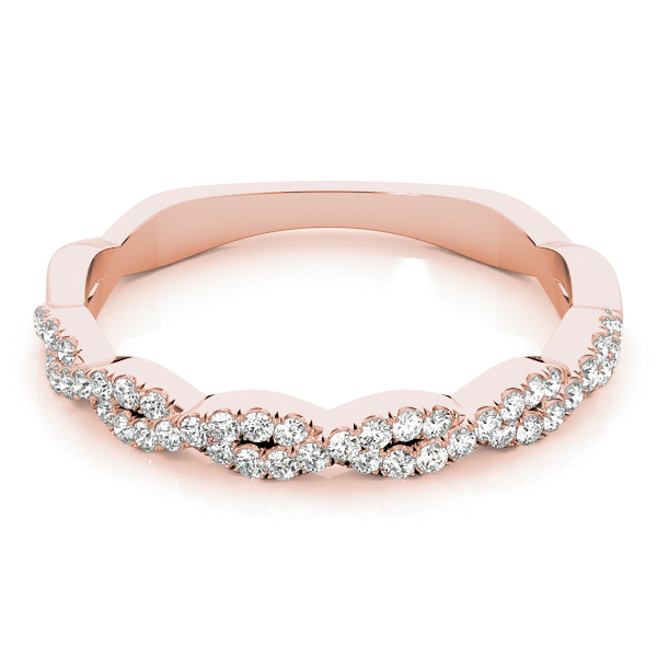 Infinity Diamond Stackable Ring Rose Gold
