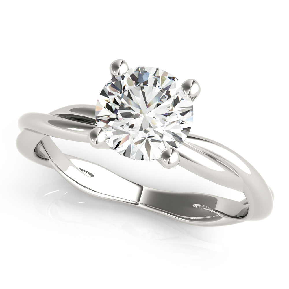 Solitaire Infinity Engagement Ring
