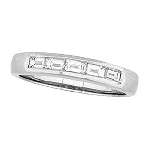 Baguette Diamond Wedding Band 0.37 tcw. In 14 Karat White Gold