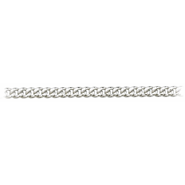 8.5 Inch 950 Platinum Cuban Curb Chain Bracelet, 6.7mm wide