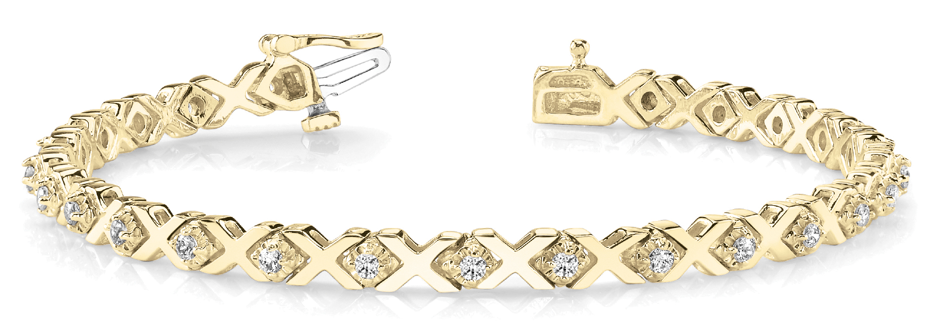 XO Diamond Bracelet Yellow Gold 0.91 Carat