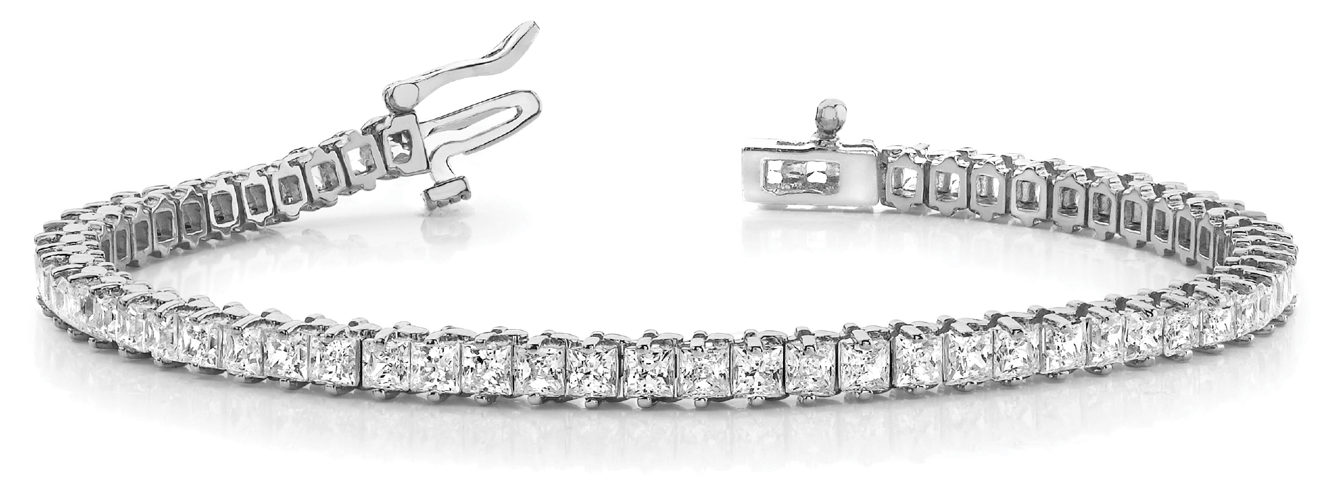9.5 Carat Princess Diamond Platinum Tennis Bracelet