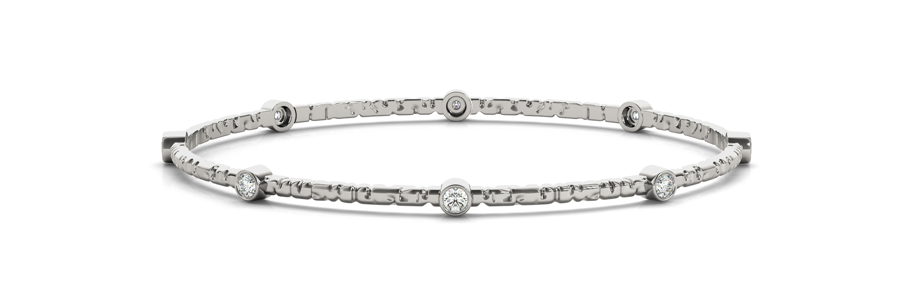 1.2 Carat Round Diamond Bangle in Platinum
