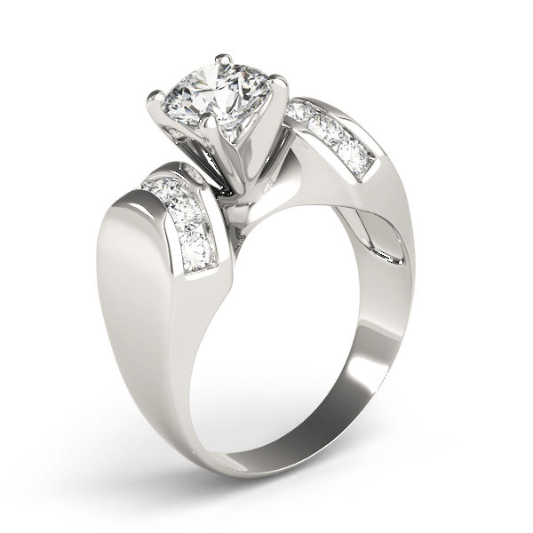 Huggie Channel Diamond Engagement Ring