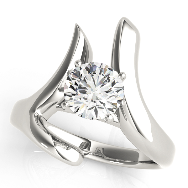 Swirl LI Solitaire Engagement Ring