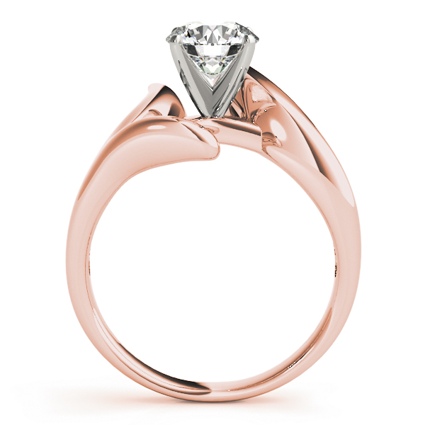 Swirl LI Solitaire Engagement Ring in Rose Gold