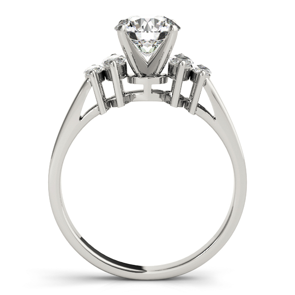Cathedral Diamond Engagement Ring with Marquise Accent Diamonds