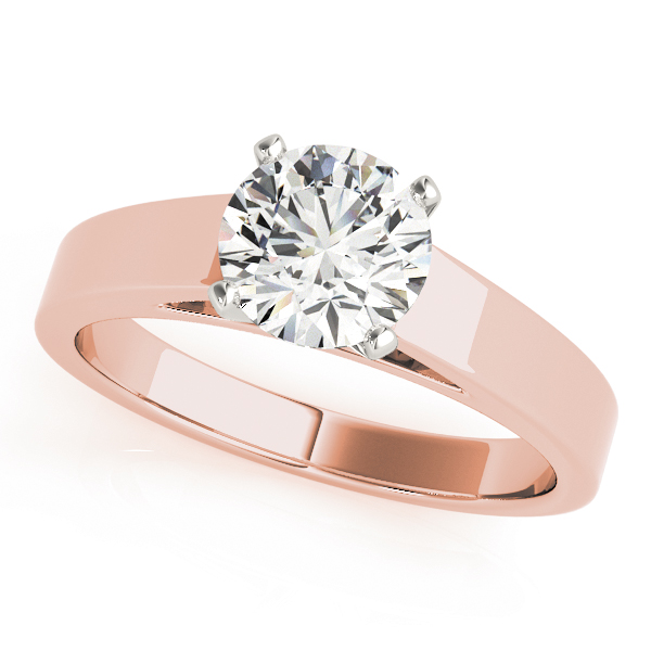 Classic Cathedral Solitaire Engagement Ring in Rose Gold