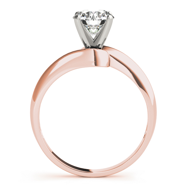 Petite Swirl Solitaire Engagement Ring in Rose Gold