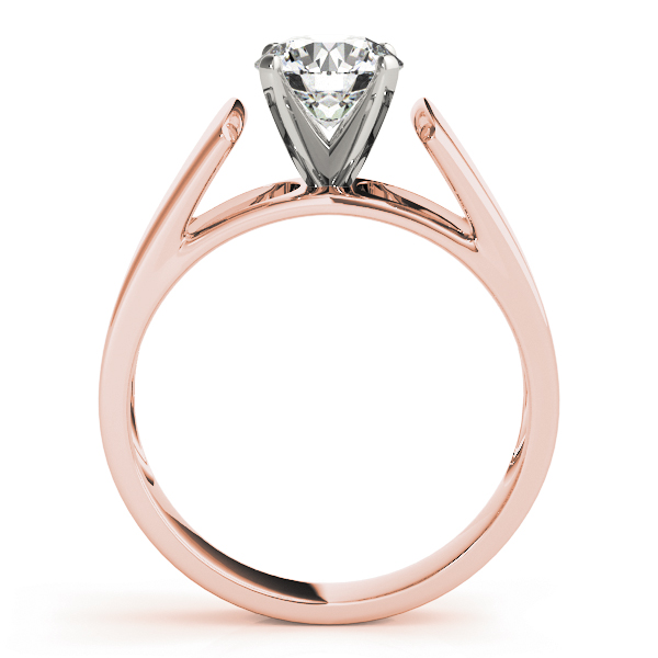 Tapered Solitaire Engagement Ring in Rose Gold