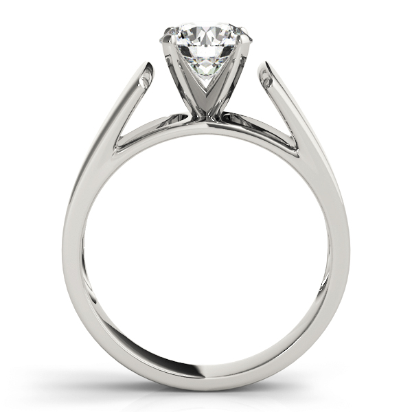 Tapered Solitaire Engagement Ring in Platinum