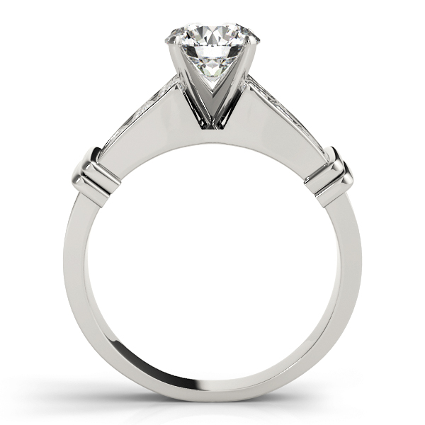 Double Row Channel Princess Diamond Engagement Ring