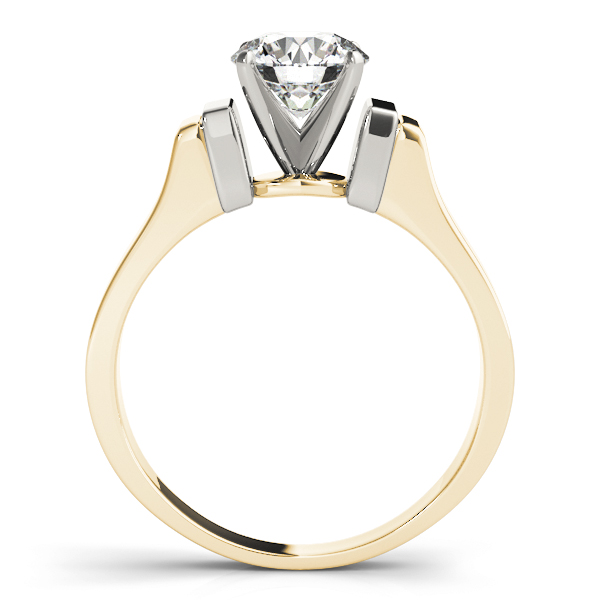 Petite Cathedral Solitaire Engagement Ring in Yellow-Gold