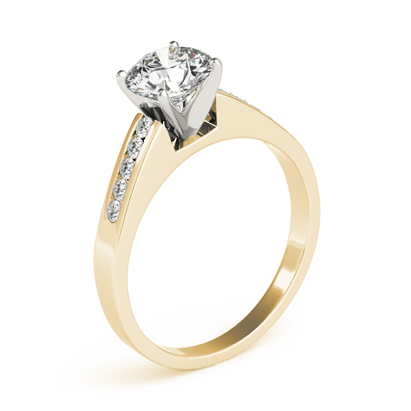 Petite Cathedral Classic Diamond Engagement Ring in Yellow Gold