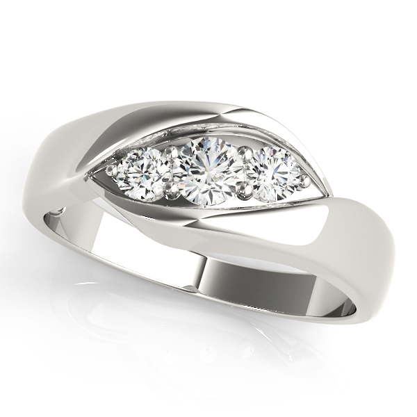 Trio Wave Diamond Wedding Ring