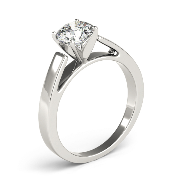 Cathedral Solitaire Engagement Ring Platinum