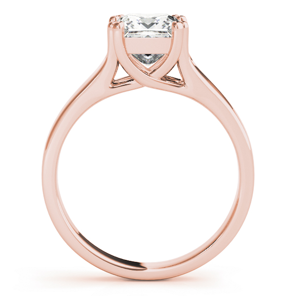 Solitaire Princess Engagement Ring in Rose Gold