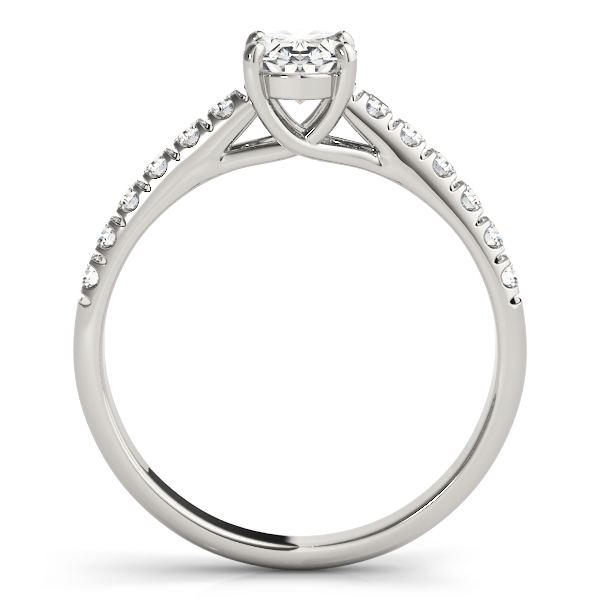 Classic Oval Diamond Trellis Engagement Ring