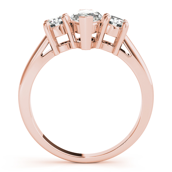 3 Stone Marquise Engagement Ring Rose Gold