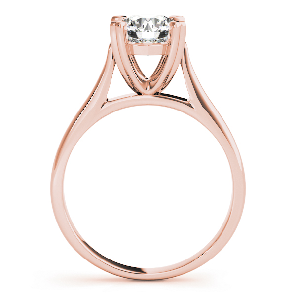Petite Cathedral Solitaire Engagement Ring in Rose Gold