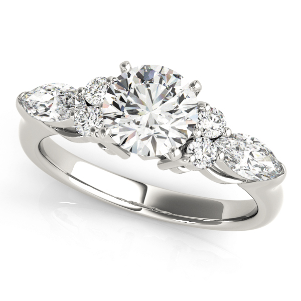 Marquise & Round Diamond Engagement Ring