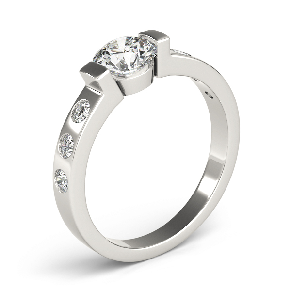 Low Profile Bezel Diamond Engagement Ring