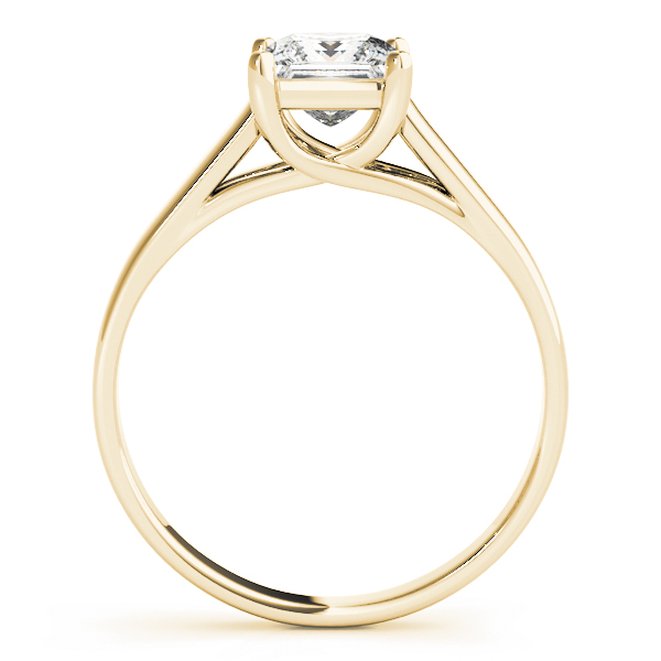 Princess Diamond Trellis Solitaire Engagement Ring in Yellow Gold
