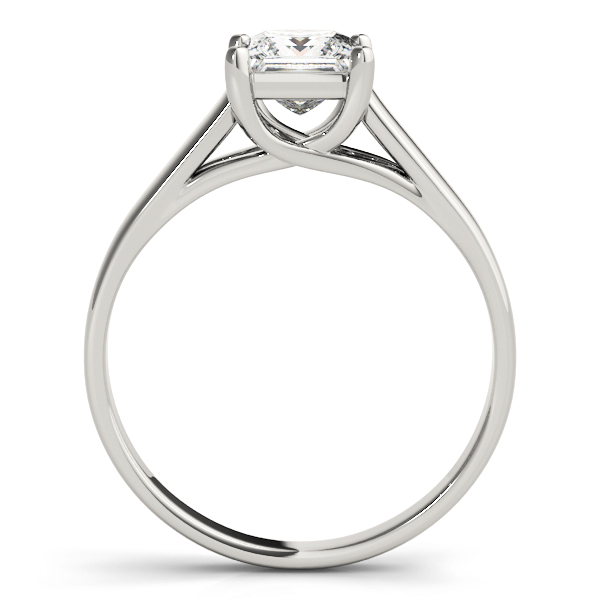 Princess Diamond Trellis Solitaire Engagement Ring
