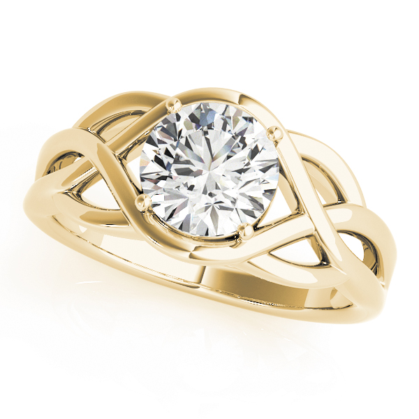 Celtic Knot Engagement Ring Yellow Gold