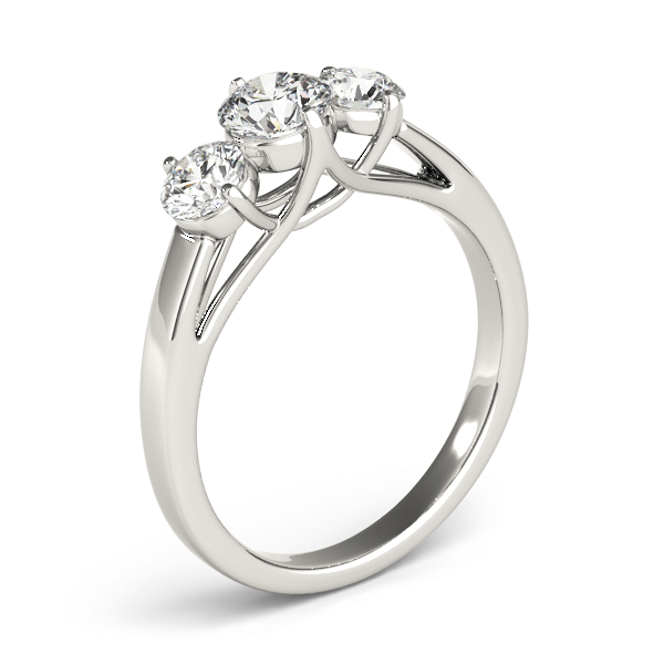 Three Stone Diamond Anniversary Ring