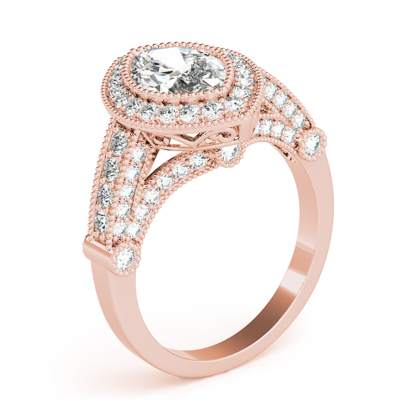 Marquise Legacy Vintage Engagement Ring Rose Gold