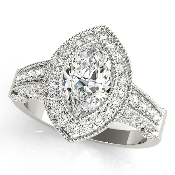 Marquise Legacy Vintage Engagement Ring