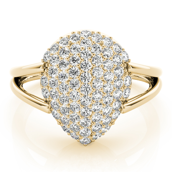 Pear Diamond Cluster Ring Yellow Gold