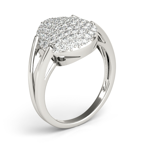Tear Drop Diamond Cluster Ring